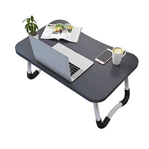 VASEN Tavolino da Letto Colazione Pieghevole Tavolo Letto Regolabile e Portatile per Laptop Pc Supporto Notebook Computer Tablet 60x40x28cm (Nero)