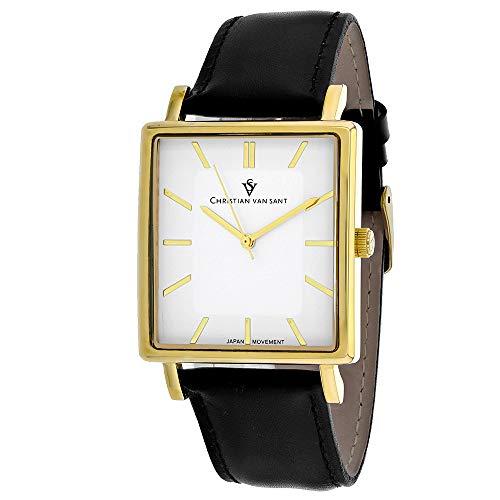 Christian Van Sant Ace CV0432 - Reloj casual para hombre, acero inoxidable, cuarzo, color negro
