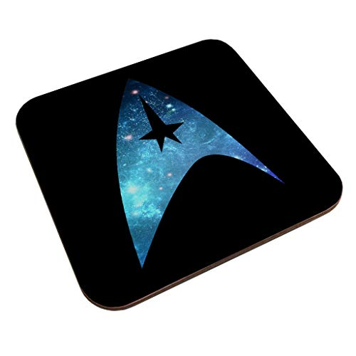 Star Trek Galaxy Silhouette Star Fleet Logo Coaster