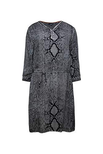 SOCCX Damen Kleid mit Snake Print und Pailletten