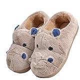LANFIRE Zapatillas de algodón para niños y Adultos Zapatillas de casa Hippo Zapatillas de Felpa...