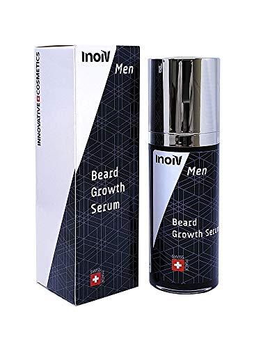 Inoiv® Men – Beard Growth Serum | Bartwuchsmittel für Männer | Beschleunigt das Bartwachstum | Für einen vollen, kräftigen und gepflegten Bart | 30ml