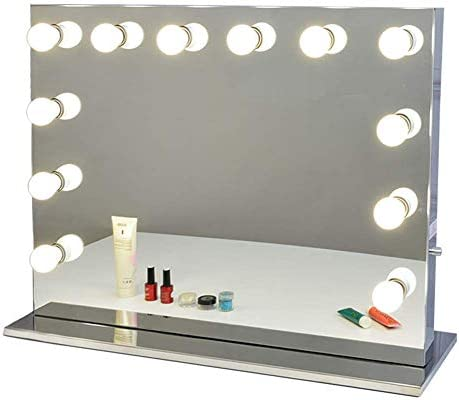 Chende Hollywood Vanity Mirror with Lights for Makeup Tabletop Lighted Mirror with Outlet 31 product image