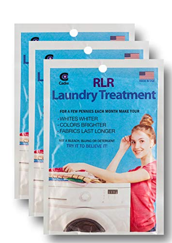RLR Natural Powder Laundry Detergent – Whitens, Brightens, Refreshes Baby Cloth Diapers, Musty Towels, Workout Clothes - Non-toxic, Fragrance-Free For Sensitive Skin (Pack of 3)
