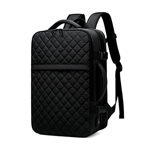 Zaino Grande per Ragazzo Ragazza Borse Scuola Universitaria con Scomparto Per Laptop Misura 15.6Inch Zaino da Viaggio Lavoro USB (Color : Black, Size : 12.5x6.6x18.8 inch)