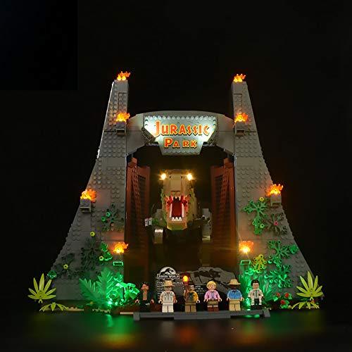 LODIY Luci LED Kit per Lego 75936 Jurassic Park T Rex Rampage - Illuminazione Luce LED Light Kit Compatibile con Lego 75936 (Modello Lego Non Incluso) (Senza Telecomando)
