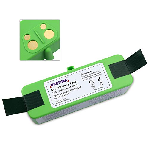 NASTIMA Xlife 14.8V 64400mAh Lithium Ion Battery Compatible with Roomba 510 520 521 535 550 551 560 561 562 577 580 610 620 630 650 655 671 675 760 770 780 790 860 870 880 [Aprobación UL CE]