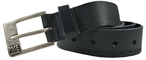PME Legend Ledergürtel Herrengürtel schwarz, Größe:110
