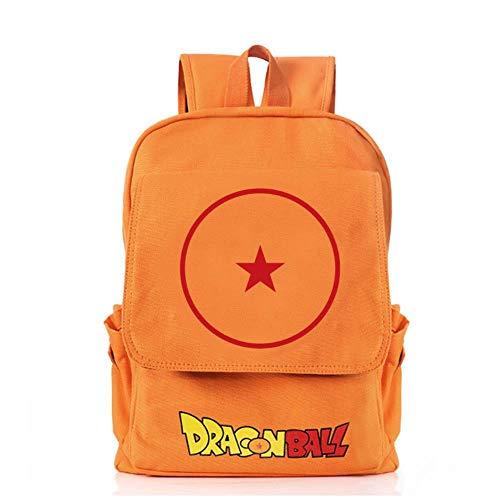 MAZF Toile Dragon Ball Sun Wukong imperméable Respirante et résistante à l'usure pour réduire la Charge Anime Image Backpack Cartable Sac d'école Étudiant Sac à Dos de Loisirs pour Filles Garçons