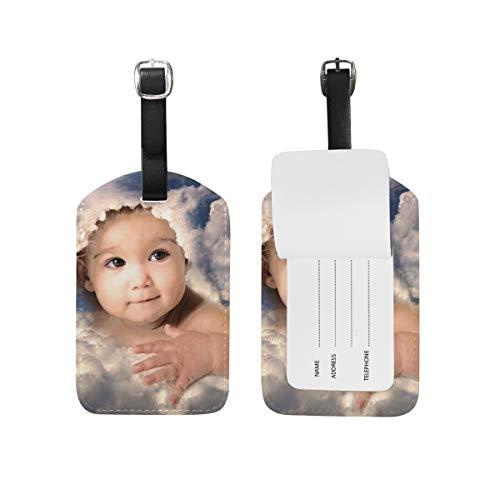 Sky Baby PU Lederen Bagage Tag ID Tags Zakelijke Kaart voor Hang op Reistas Bagage