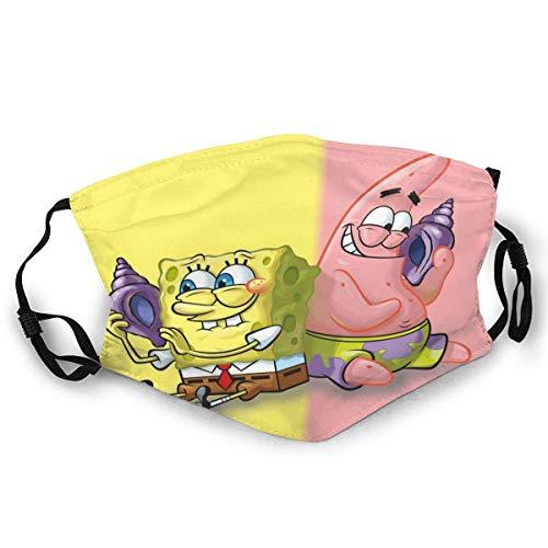 Spongebob Mouth Guard, wiederverwendbar, waschbar(Schwarz (1st¨¹ck)) Unisex Anti-Dust Washable Reusable Mouth Guard for Kids Teens Adults