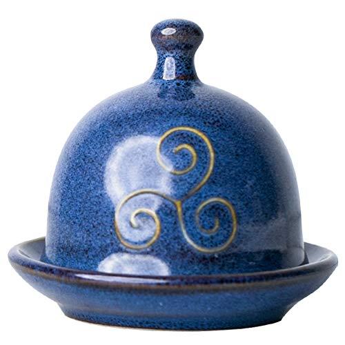 Yipianyun Bowl Fry, Erving Korb Butterdosen Sauce Dish Mit Deckel Butterschale Gewürz Dish Keramik Snack Geschirr Pickle Geschirr Essig Dish,Blau