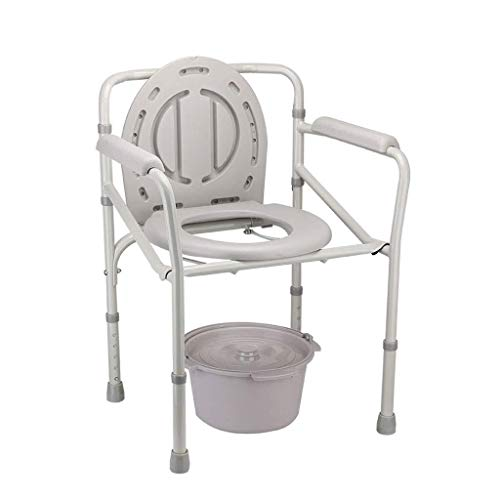 WJJ Silla con Inodoro Los Asientos de Inodoro Elevado de Acero Plataforma Médica De pie Frame WC Carga máxima Capacidad 330lbs Silla con WC o Inodoro para discapacitados