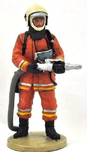 Del Prado Sammelfigur Feuerwehrmann Firefighter Figur Brüssel Belgien 2003 1:32 ca. 7 cm Metall
