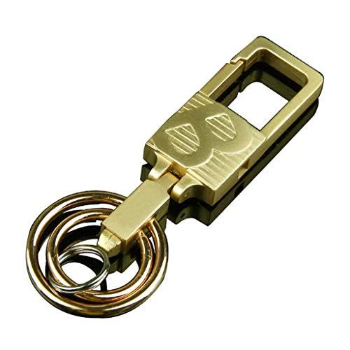 CJH Sleutelhanger Heren Taille Riem Auto Sleutelhanger Ring RVS Legering Sleutelhanger Creatief Goud