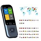 TTLIFE 138 Idiomas Traductor de voz en tiempo real WiFi/Hotspot/Traductor de fotos sin conexión Pantalla táctil de alta definición de 2,4 pulgadas