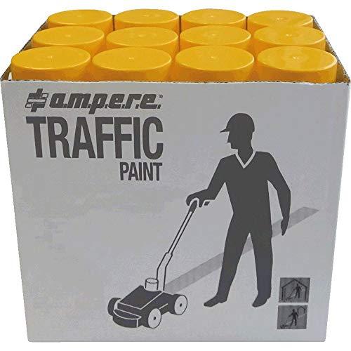 A.M.P.E.R.E 630101001 12 Dosen Bodenmarkierungsfarbe AMPERE TRAFFIC PAINT (Gelb)