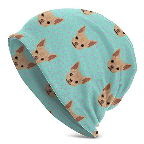 Kteubro Chihuahua Hund grün Sport atmungsaktiv Running Beanie Cap Mütze für Erwachsene Damen und Herren