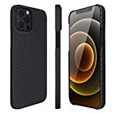 AIMOSIO Slim Case Compatible with iPhone 12/12 pro,2020 6.1' 3D-Grip 100% Aramid Fiber Minimalist Phone Case,[Real Body Armor Material] Non Slip Strongest Durable Snugly Fit Ultra-Thin Snap-on Case