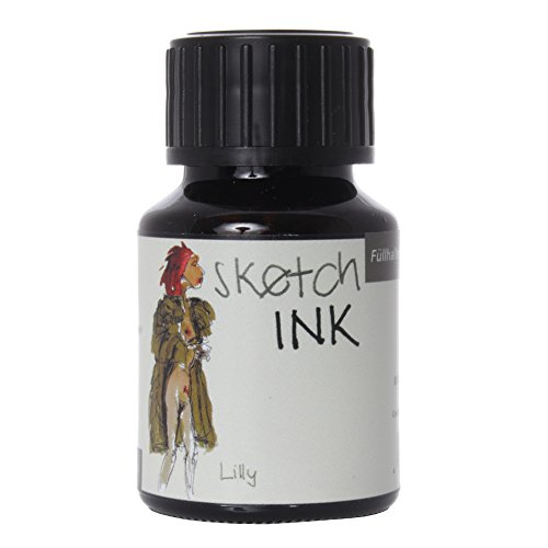 Rohrer & Klingner Tinta para escritura y dibujo SketchINK, frasco de 50 ml, oliva, Lilly