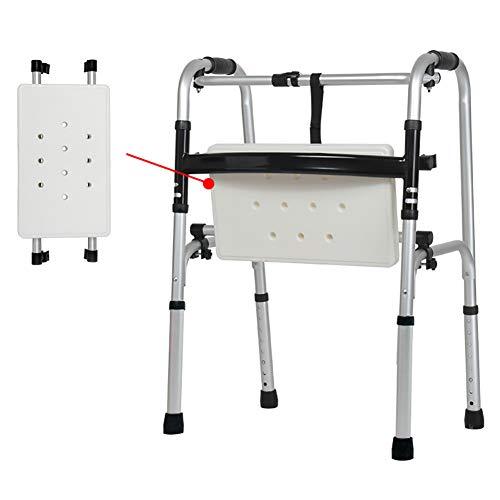 DMZY Estándar Andador Sin Ruedas con Tabla de baño Plegable Súper Ligero Aleación de Aluminio