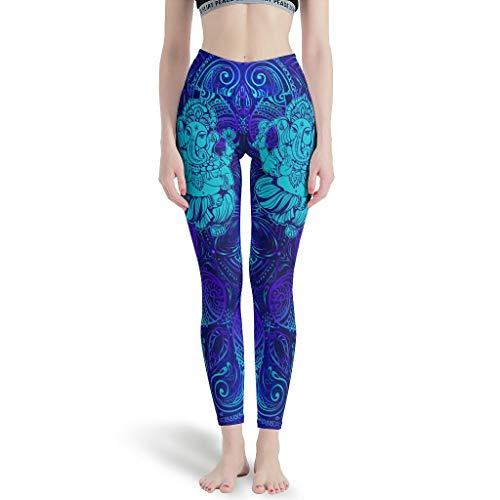 WJunglezhuang Women's Tummy Control Yoga Leggings Yoga Olifant Lichtgewicht Lichtgewicht Compressie Legging voor Pilates Gym