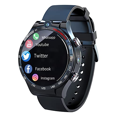 QNMM APPLLP 4 Smart Watch Phone Android 10,7 WiFi Cámara Dual Full Round Touch 4G Smartwatches Hombres RAM 4G ROM 128G Reloj GPS