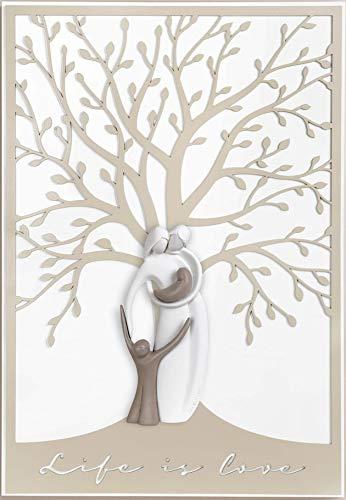 MAZZOLA LUCE Capezzale Design capoletto Sacra Famiglia Moderna Quadro Verticale Camera da Letto 48x70 Nocciola Tortora
