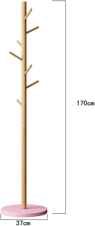 LXSnail Indoor Solid Wood Coat Rack, Floor-Standing Home Creative Clothes Rack, Bedroom Simple Assembly Hanger Coat Racks (color   2)
