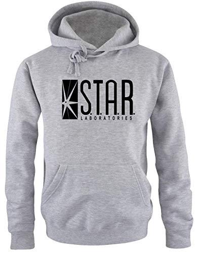 S.T.A.R. Laboratories Hoodie Sweatshirt mit Kapuze grau-meliert-schwarz Uni Gr.S