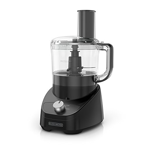 Spectrum Black+Decker 3-in-1 Easy Assembly 8-Cup Food Processor, Black, FP4150B