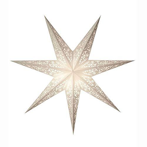 mitienda papieren sterren lux, kerstster decoratieve lamp, raamdecoratie woondecoratie, vouwster geschenkidee wit