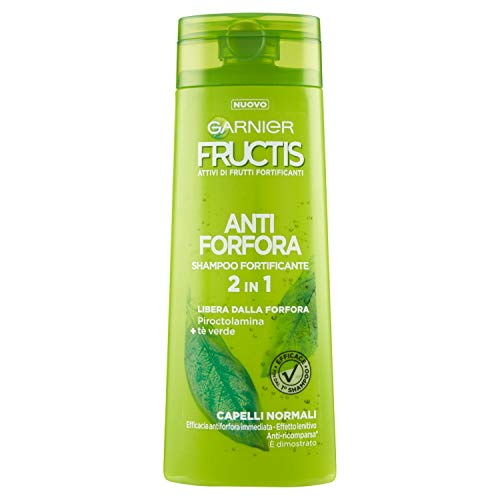 Garnier Fructis Antiforfora 2in1 Shampoo per Capelli Normali, 250 ml