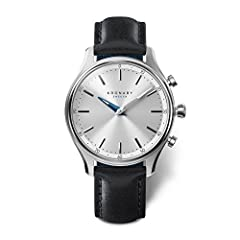Black Leather strap Stainless-steel case, White dial Quartz movement Case diameter: 38mm Water resistant: 100m