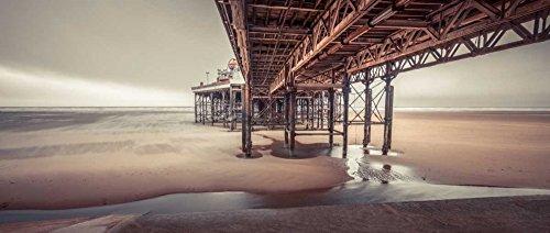 AFDRUKKEN-op-GEROLDE-CANVAS-Blackpool-kust-met-steiger-Frank-Assaf-Kust-Afbeelding-gedruckt-op-canvas-100%-katoen-Opgerolde-canvas-print-Kunstdruk-op-gerol-Afmeting-54_X_129_cm
