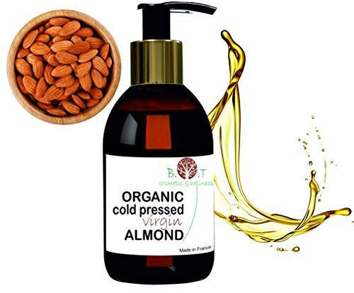 Bio Zertifizert Mandelöl kaltgepresst Öl (250 ml) Mandelöl Bio von höchster Qualität –