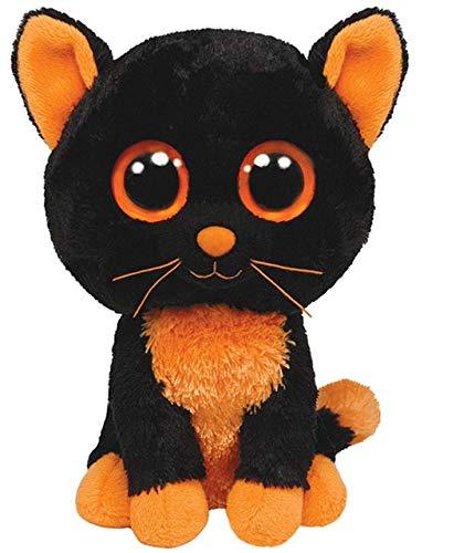 Ty Beanie Boos Cat Plush Muffin Sophie Pepper Frights Tabitha Reagan Buckwheat Big Eyes Stuffed Animal (Moonlight)