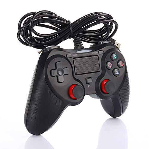 Mando con Cable compatible con PS-4, Controlador Dualshock Gamepad para Playstation4 y PC con Panel Táctil Joystick - Cable 1.5M