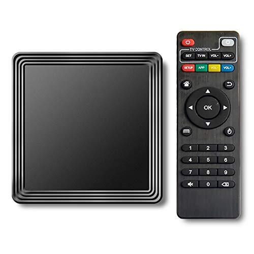 Android 10.0 TV Box, 4GB RAM 32GB Rom Cortex-A53 Quad Core Bluetooth 4.1 WiFi 2.4G & 5G Ethernet 2USB Set Top Box Support 4K Ultra HD Internet Video Player