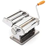 Foraineam Pasta Maker Machine Stainless Steel Hand Crank Manual Pasta Roller Cutter Noodle Makers