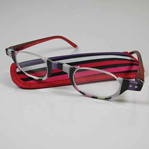 KOST Moderne halbrahmen Lesebrille +1,5 Design1 Fertigbrille Flexbügel SIE & IHN