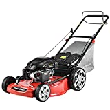PowerSmart Lawn Mower Gas Powered 22 Inch with Bag, Self Propelled Gas Lawn Mower with 200CC 4-Stroke Engine,3 in 1 Lawnmower with 5 Adjustable Cutting Heights (1.2''-3.5'' ), PSM2322SR