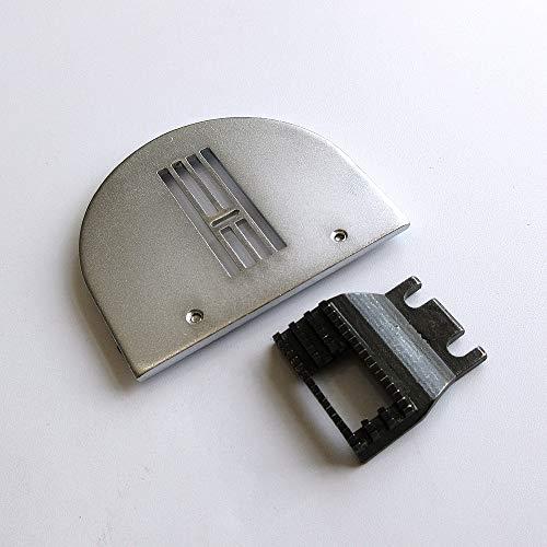 Placa de garganta con aguja en zigzag, alimentador de perro para máquina de coser Brother B651 B652 (tamaño Zig ZAG, 12 mm)