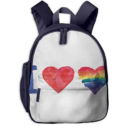 Kinderrucksack Kleinkind Jungen Mädchen Kindergartentasche Ich Liebe Akronym Piktogramm Backpack Schultasche Rucksack