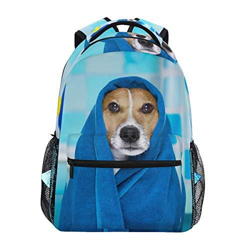 Schoudertas Grappige Bad Handdoek Hond Laptop College Tas Bedrukte Rugzak Lichtgewicht Jongen Casual School Print Mode Student Reizen Speciale