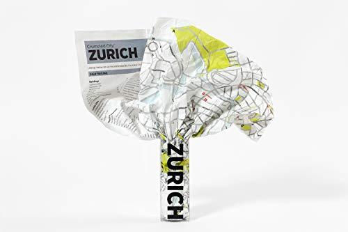 Crumpled City Zürich (internationale Ausgabe des Stadtplans Zürich in englischer Sprache): Die cleveren Stadtpläne für Großstadtnomaden (Crumpled City Maps)
