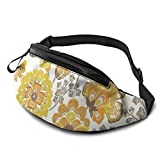XCNGG Bolso de la cintura del ocio bolso que acampa bolso del montañismo Watercolor Ginkgo Fanny Packs for Women and Men Waist Bag Adjustable Belt for Outdoors Workout,Traveling,Casual Running,Hiking,