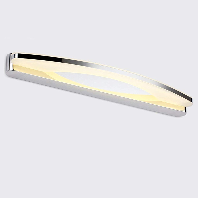 LMirror vorne Licht Mode Einfache Badezimmer Edelstahl Anti-fog Feuchtigkeit Make-up Lampe Wandleuchten (Farbe  warmes Licht -70 cm)