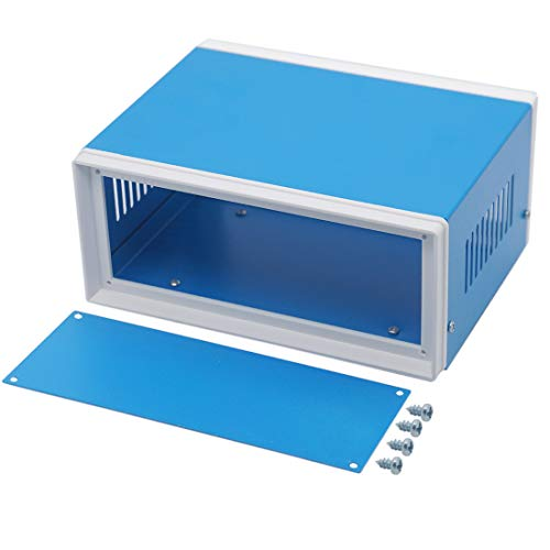 Zulkit Electronic Enclosures Blue Metal Enclosure Project Case DIY Box...