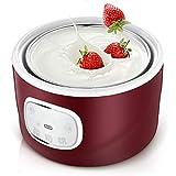 TXOZ Máquina de yogur a granel con pantalla táctil + recipiente de almacenamiento con tapa, ideal para bio, edulcorado, aromatizado, nivel, Or Sugar Free Options para bebés, niños y parfaits